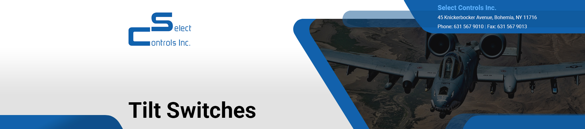 tilt-switches banner Select Controls Inc